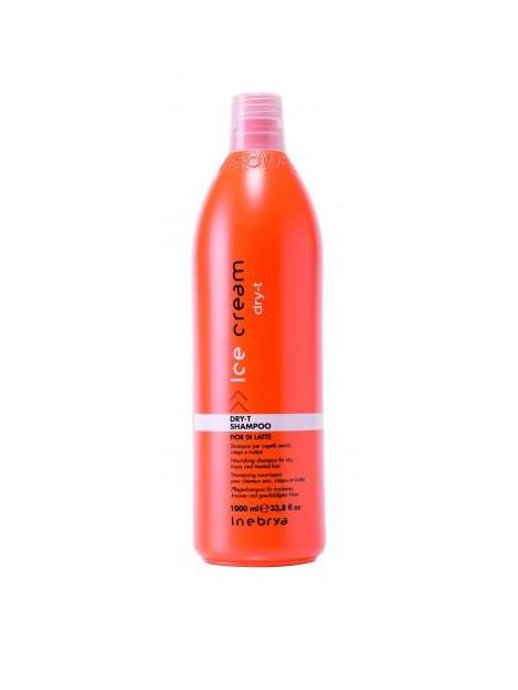 Shampoing nourrissant pour cheveux secs et crépus DRY-T INEBRYA 1l