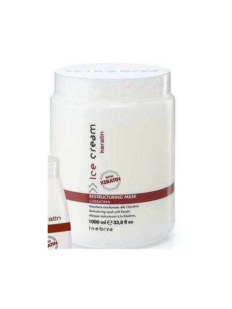 Masque restructurant à la kératine INEBRYA 1000 ml