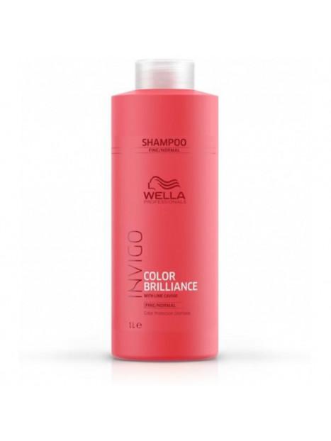 Shampoing couleur cheveux fins et normaux Invigo BRILLANCE WELLA 1L