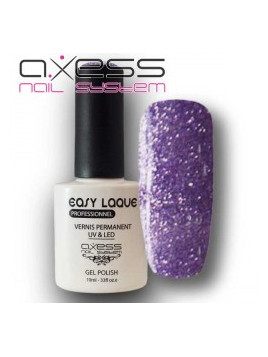 Vernis semi-permanent micro paillettes Violet Axess Nail System 10 ml