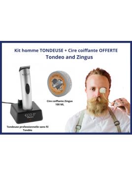 Kit tondeuse cheveux Eco S et Cire coiffante Zingus