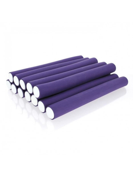 Bigoudis mousse Super Flex SHORT Violet SIBEL
