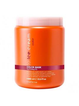 Masque intensif cheveux colorés ou méchés COLOR INEBRYA TUTTI FRUTI 1000 ml